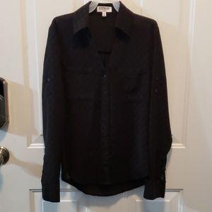 Express Portofino shirt black with dots